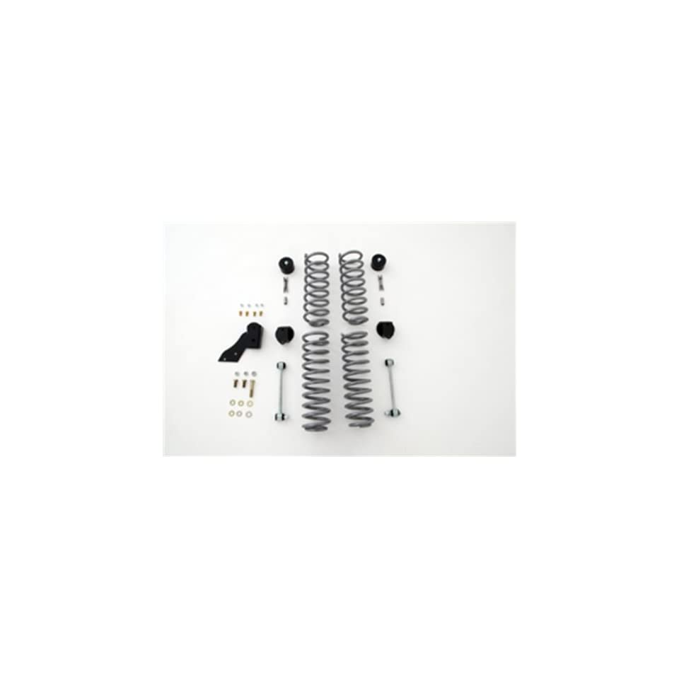 Rubicon Express RE7141 Suspension Lift Kit; 2.5 in. Lift; Fr/Rr Coil Spng/Fr/Rr Cam Bolt/BumpStp/Drp Brkt/Ext Sway Bar/w/Warranty;