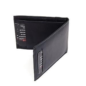 Mens Slim Wallet Bifold Alpine Swiss Billfold Thin Front Pocket Wallet Leather