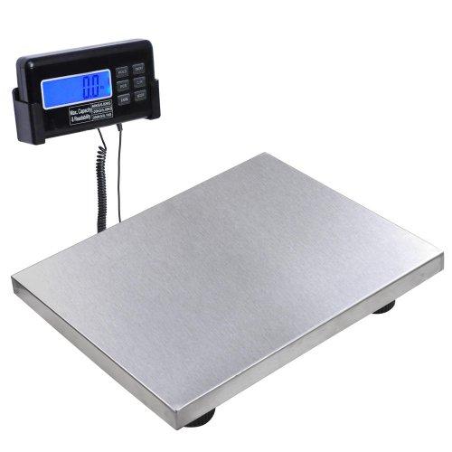 New Heavy Duty Digital Postal Platform Scale 440 Pounds Capacity W Lcd Display