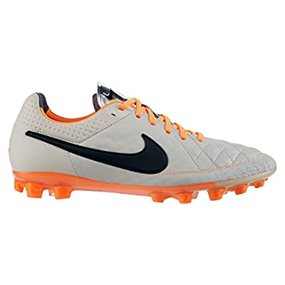 Nike Tiempo Legend V AG 631612-008 Sand/Black/Orange Men's Soccer Cleats Boots