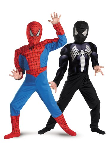 Disguise Marvel Spider-Man Reversible Spider-Man Red To Black Classic Muscle Boys Costume, 4-6