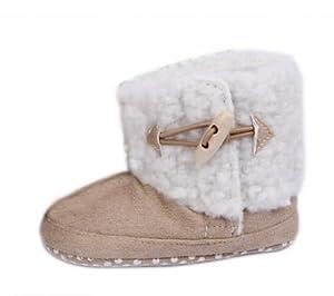 V-SOL 12.5cm Caqui Algodón Antideslizante Lindo Caliente Batas Zapatos Para Niñas - BebeHogar.com
