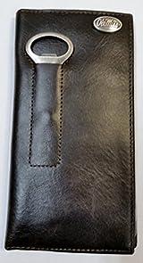 Ole Miss Brown Leather Bottle Opener Secretary Wallet