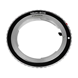 Fotodiox Lens Mount Adapter with Dandelion AF Focus Confirmation Chip, Nikon Lens to Canon EOS Camera, for Canon EOS 1D, 1DS, Mark II, III, IV, 1DX, 1DC, 5D, 5D Mark II, II 7D, 30D, 40D, 50D, 60D, 70D, Digital Rebel T3i, T4i, T5i, SL1, and C300, C500