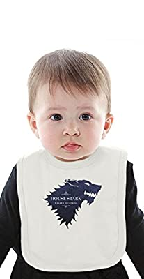 House Stark Game of Thrones Organic Bib With Ties