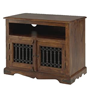 Cheap  Jali Sheesham Square TV Cabinet