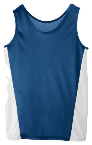 Augusta Sportswear Ladies Fit Tank Top, Navy/White, X-Large