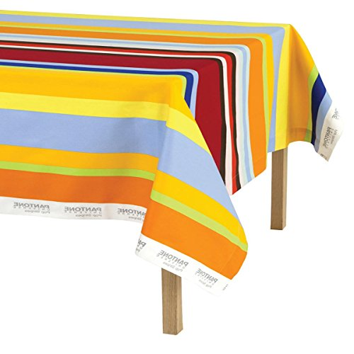 Tovaglia da tavola Pantone Bassetti Pop Stripe 6 posti - 140x180 cm M939 ARANCIONE