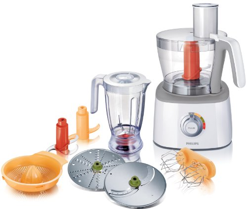 Philips HR7772/00 Food Processor with Blender and 6 Attachments, 700 Watt by Philips