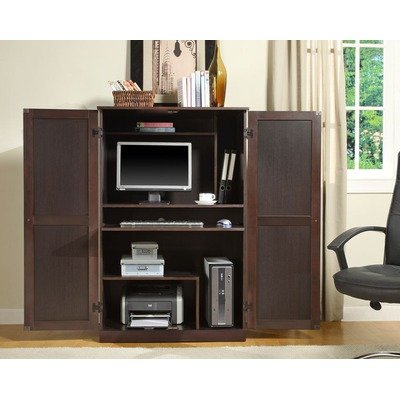 Computer Armoire In Walnut Ebony - Innovex - Ca750P36 front-702726