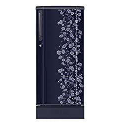 Haier HRD-2105PBD-H Direct-cool Single-door Refrigerator (190 Ltrs, 4 Star Rating, Blue Daisy)