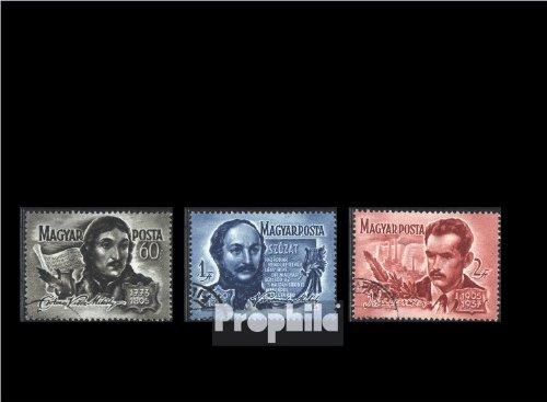 Ungarn 1446-1448 (kompl.Ausg.) gestempelt 1955 Berühmte ungarische Dichter (Briefmarken für Sammler)
