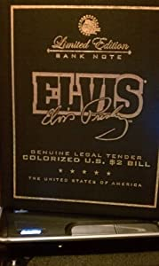 Limited Edtion Elvis Presley 2 Dollar Bill