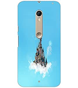PrintDhaba Flying Castle D-1066 Back Case Cover for MOTOROLA MOTO X PURE EDITION (Multi-Coloured)