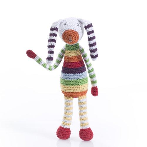 Pebble: Bunny Rattle - Rainbow-Multi