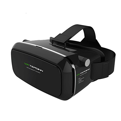 Tepoinn 3D VR Glasses, 3D VR Headset Virtual Reality Box with Adjustable Lens and Strap for iPhone 5 5s 6 plus Samsung S3 Edge Note 4 and 3.5-6.0 inch Smartphone for 3D Movies and Games