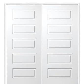 National Door Company Z009491ba Wood Prehung In Swing Interior Double Door Rockport Solid Core
