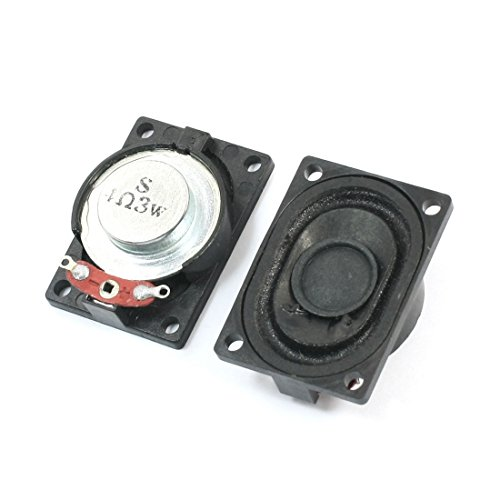 2Pcs 3W 4 Ohm Magnet Speaker LCD Ad Player Audio Loudspeaker 40mmx28mm Ad Panels