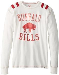 NFL Buffalo Bills Men's Bruiser Long Sleeve Tee, X-Large, White Wash
