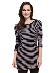 M&S Collection 2 Pocket Striped Tunic