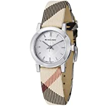 Hot Sale Burberry Women's BU9212 Large Check Nova Check Strap Watch