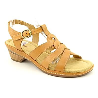 Naturalizer Entari Womens Size 6 Brown Slingback Sandals Shoes