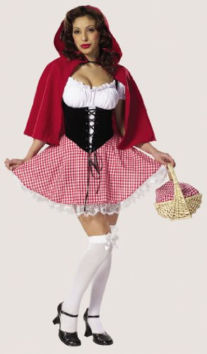 Sexy Little Red Hot Riding Hood Costume Fairy Tale Costume