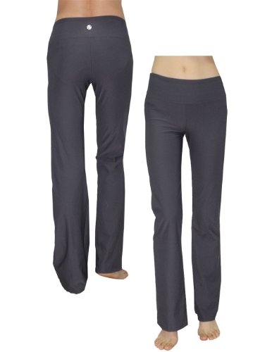 Bally Total Fitness Womens Comfortable Casual-Wear Lounge / Yoga Pants S Grey