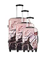 TRAVEL ONE Set de 3 trolleys rígidos Wickoff (Multicolor)