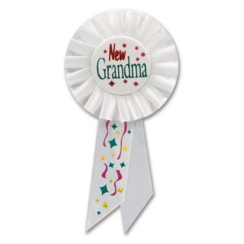 Beistle RS178 New Grandma Rosette, 31/4 by 61/2-Inch