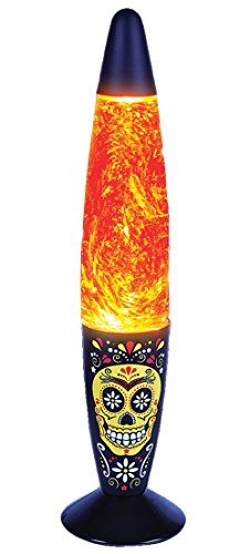 New Day Of The Dead Skull Glitter Lamp Halloween Decor Party Light
