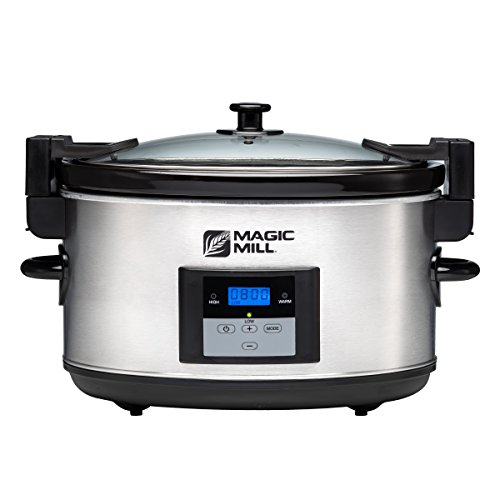 Magic Mill 8.5 Quart Programmable Slow Cooker, 3 Cooking Settings, with Locking Lid for Easy Transport (Magic Cooker compare prices)
