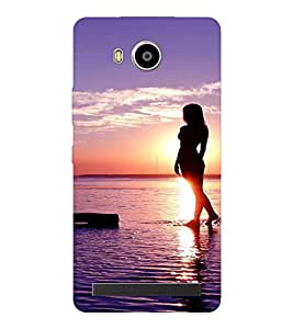 EPICCASE Walk on the beach Mobile Back Case Cover For LENOVO A7700 (Designer Case)