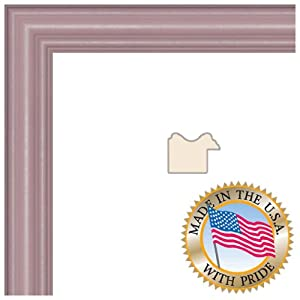 ArtToFrames 8x10 Pink Stain on Red Leaf Maple Picture Frame 1 Inches Wide 0066-60823-YPNK