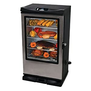 Masterbuilt 20070512 40-Inch Front Controller Electric Smoker with Window and RF Controller