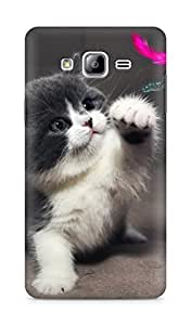 Amez designer printed 3d premium high quality back case cover for Samsung Galaxy ON7 (Cute Kitty)