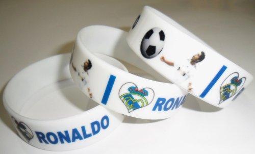 Celebrity Multi Color Silicone Bracelet Fan Love Unisex Printed Rubber Wristband Cuff (Cristiano Ronaldo)