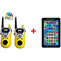 Smiles Creation Combo Of Walkie Talkie Set & P1000 Kids Educational Learning Tablet Toy For Kids
