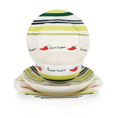 TABLE&COOK Assiette plate 'piment basque' (lot de 6) - F3608-D0409
