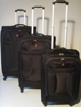 Trolley Koffer Set 3 tlg. Schwarz von Wenger