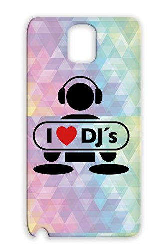 Tpu Drop Resistant Love Music Note Talent Graffiti Party Mic Scratching Vinyls Rap Old School Vinyl Record Headphones Music Battle Heart Disco Dj Miscellaneous Hip Hop Mc Beat Freestyle Breakdance Red Dj F2 Case Cover For Sumsang Galaxy 3