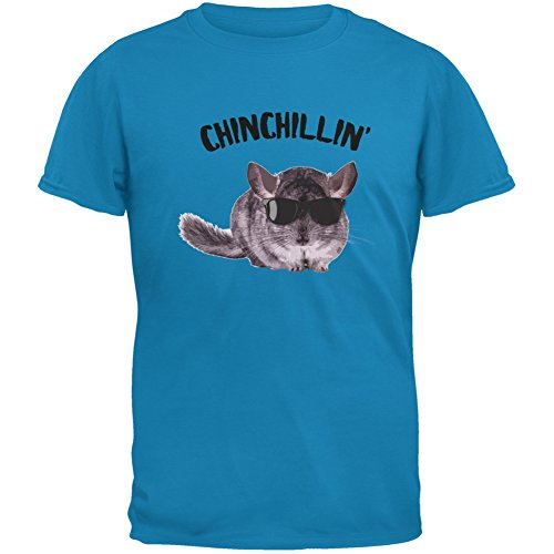 Chinchillin Chinchilla Sapphire Blue Adult T-Shirt - Small