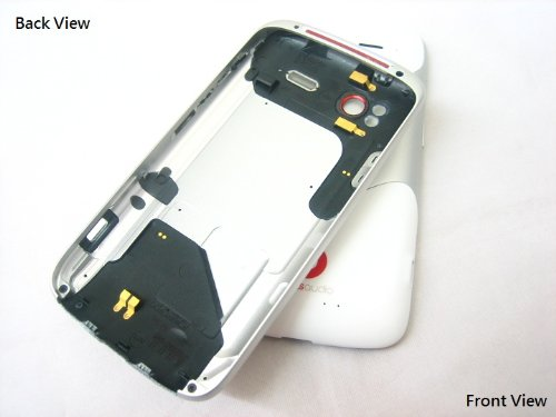 Htc White Housing Cover Door Case Frame Fascia Plate For Htc Sensation Extreme Edition Xe With Beats Audio G18 G14 Z715E Z710E T-Mobile