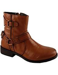 Salt N Pepper Criminal Cognac 100% Genuine Leather Men Mid Ankle Boots