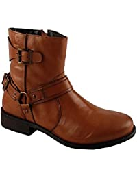 Salt N Pepper Criminal Cognac 100% Genuine Leather Men Mid Ankle Boots