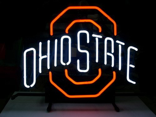 New Ohio State Buckeyes Real Glass Neon Light Beer Pub Sign at Amazon.com