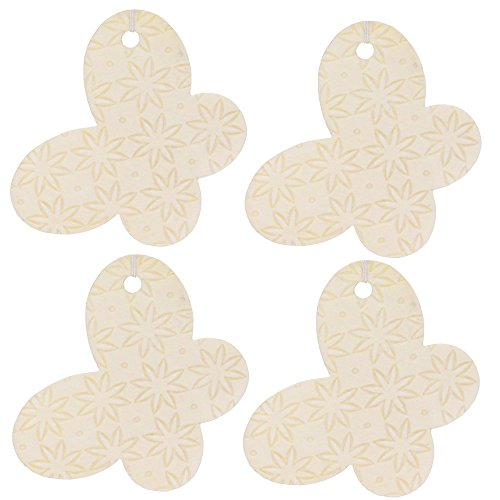 Set of Four Butterfly Shaped Air Fresheners With Embossed Burst Pattern, Cherry Almond (Cherry Shaped Air Freshener compare prices)
