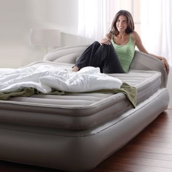 """Aerobed: Queen 18"""" Double Height With Headboard - Easy Ac Pump & Hand Control front-455489"""