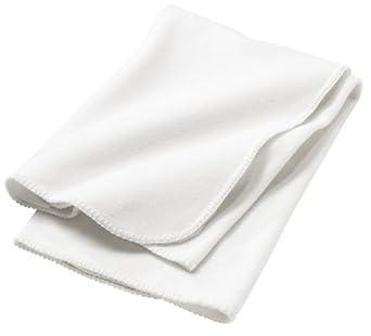 Precious Cargo Fleece Receiving Blanket, White, One Size