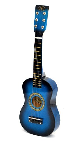 Ts-Ideen 5203 Wooden Children's Toy Guitar for 3 Years and Over with Bag and Spare Strings Red
